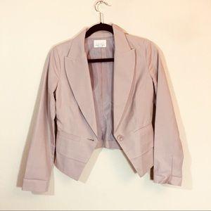 Hinge smooth silky neutral blazer